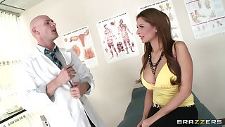 Hot ass ill-lighted Allison star enjoys having sex helter-skelter a doctor