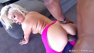 Ace interracial anal smashing be expeditious for sexy flaxen-haired yogi Layla Price