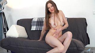 Dirty mature slut Bridget Flash takes off her clothes apropos masturbate