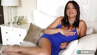Interview with hot tanned MILF