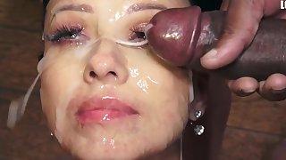 Vicky Cherish swallows 48 huge chew cumshots