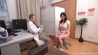 Japan mature wants the doctor's cock right away