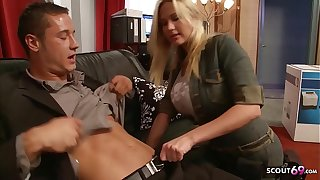 Big Bouncing Tits Nympho Craftswoman Seduce to Fuck being done