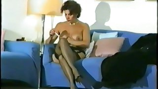 I filmed my previously to girlfriend Marialuisa's striptease