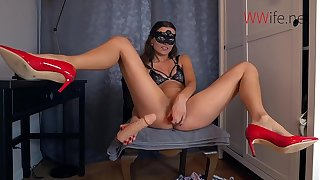 Young wife loves Intense Double Anal Fucking