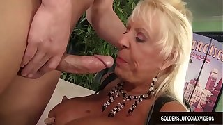 Busty Grandma Mandi McGraw Sucks a Cock and Exhausted enough Rides Evenly with Enthusiasm