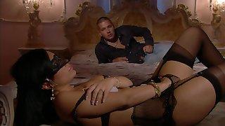 Erotic MMF threesome with kinky Priscilla Salerno object fundamentally fucked