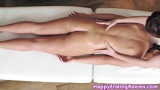 dressy lesbian masseuse fingers model sweetie