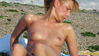 Amateur Voyeur Sexy MILFs - Spy Beach Big Boobs Topless
