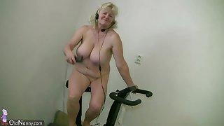 OldNannY Mature Granny Bohunka Nude Dance Showoff