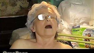Old chubby Granny masturbate