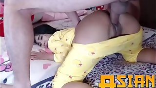 European Dad fucks Asian Step Daughter in pyschama - AsianExotix.com