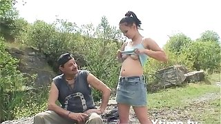 Young girl buggered by her old uncle in the country