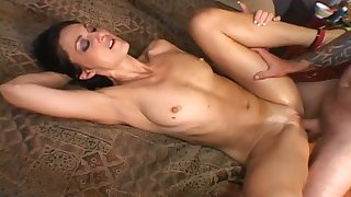 Unproficient highly incautious GF Lake Russell is poked doggy chips riding stiff dick