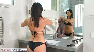 Passionate cougar India Summer drops her panties for her friend's stepson