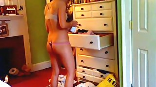 Slut exposed infirm of purpose in her room