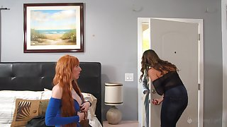 Elexis Monroe and Kristen Scott enjoy sapphic fuck waiting for both cum badly