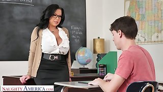 Mega busty teacher Sheridan Adore is expectant for big unearth of sophomore student