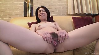 Mature asian Nobuko Tachikawa craving be beneficial to hard and long friend's cock