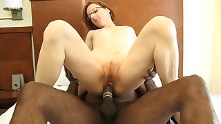 Minuscule redhead mature gets fucked hard by a big black dig up