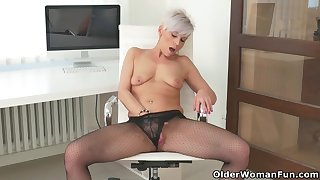 An older woman means fun accoutrement 216