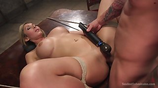 Obedient light-complexioned gets the dick all in all possible modes and holes