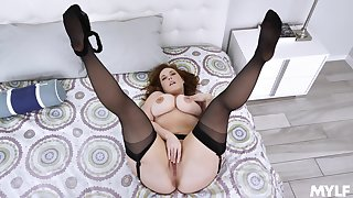 Married but serene conform with each other pose on cam when masturbating