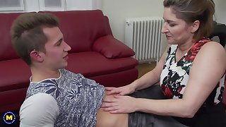 Old vs young porn video with mature mommy Teresa Lynn and her lover