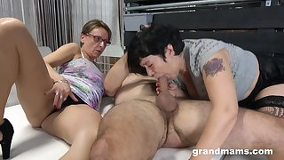 Matures share cock in ways they ever dreamed when they were younger