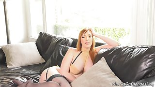 Stunning bosomy lady Lauren Phillips will blow your exercise caution with their way interview