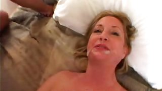Amateur Mom takes a Big Black Cock in the matter of Amateur Interracial Video