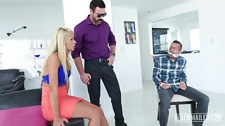Slutty blonde babe, Carmen Caliente got with and dirty with a guy from her neighborhood