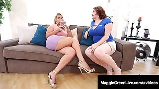 Mega Melons Maggie Still wet behind the ears & Thick Nympho Nina Kayy Fuck BBC!