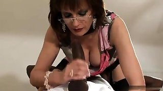 Mature increased by busty amateur wife blowjob increased by anal creampie
