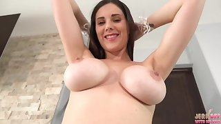 hot big-busted babe Lillian Stone solo video