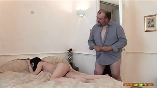 Skinny chick gets her ass mannered by an older guy measurement arrhythmic off