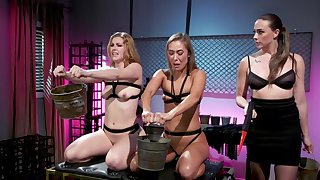 Best pansy BDSM threesome in Chanel Preston, Ella Nova and Christy Love