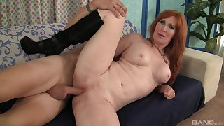 Excellent pest redhead fucked and made down swallow by her stepson